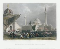 Turkey, Constantinople, Mosque of Bajazet with the Seraskier's Gate, 1838