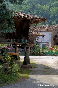 Hórreos por doquier en Espinaréu, Asturias  Spain