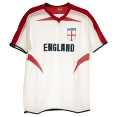 England World Cup Red Shoulder Mens' Football Top White/Red S - Xl. Price: £3.00