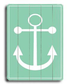 Look at this #zulilyfind! Green Anchor Wood Wall Art #zulilyfinds