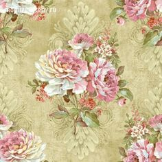 Wallquest - Elysian - Page 5 - Victorian Wallpaper, Antique Wallpaper, Flowery Wallpaper, Decoupage Vintage, Decoupage Paper, Vintage Art, Vintage Paper, Vintage Floral Fabric, Vintage Flowers