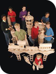 Keva Planks Castle and kids