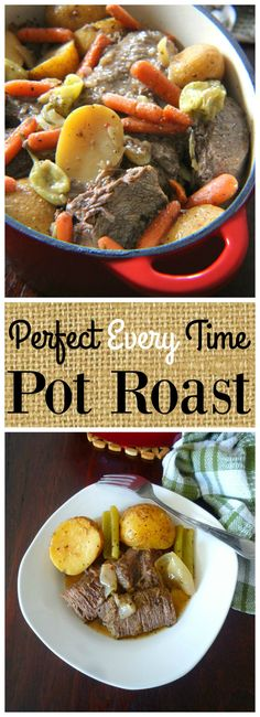 A deliciously tender Perfect Every Time Pot Roast Recipe is hard to come by these days; but I have one to share with you today, made with a quality marbled Chuck roast, tender seasonal root vege…