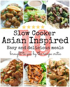 10 Asian Inspired Slow Cooker Meals at http://therecipecritic.com