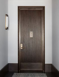 Interior Design Addict: 45 East Street Show Flat and Sales Centre, New York. The Doors, Entrance Doors, Panel Doors, Wood Doors, Windows And Doors, Entrance Ideas, Front Doors, Exterior Doors, Interior And Exterior