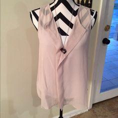 "Selling this ""Sheer sleeveless tan top!!"" in my Poshmark closet! My username is: nelnelann. #shopmycloset #poshmark #fashion #shopping #style #forsale #Tops"