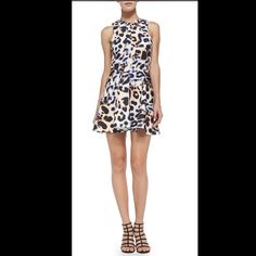 "CAMEO the label LEOPARD PRINT DRESS free shipping This leopard print fit and flare dress is super flattering. Garment information shown above. Found at Nordstrom. 33"" from shoulder to hem. Cameo Dresses"