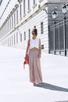 crop top and maxi skirt for summer