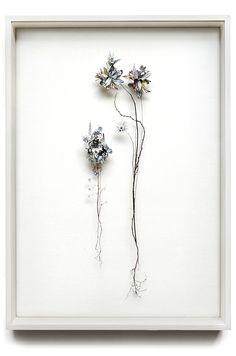 Flower construction #31 (w:50 h:70 d:6.5 cm)