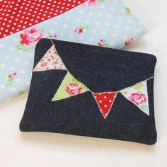 denim bunting design purse by acorn attic | notonthehighstreet.com