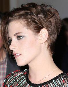 La coupe courte rock de Kristen Stewart profil