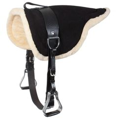 Black Leather Bareback Pad With Stirrups  WE ORDERED ONE FOR APACHE TODAY IT'LL BE AT GRAMMA'S BY THE 17TH! WOOT WOOT