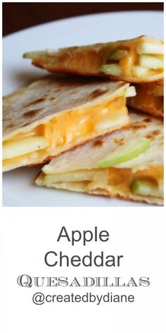 apple cheddar quesadillas: make with whole wheat tortillas (and maybe a healthier cheese?) and freezer for quick breakfasts Healthy Eating Recipes, Baby Food Recipes, Mexican Food Recipes, Vegetarian Recipes, Toddler Recipes, Apple Recipes, Best Freezer Meals, Freezer Cooking, Easy Meals