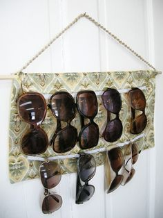 DIY Sunglasses Holder/ Easy Sewing project