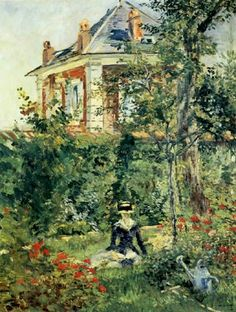Fille dans le jardin de Bellevue (Girl in the Garden at Bellevue), Edouard Manet, 1880