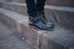 STUDDED BOOTS - STYLE PLAZA