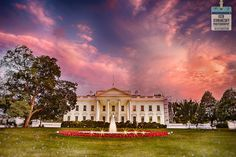 Sunset at the White house in Washington DC by F-stop photographer Ken Kaminesky