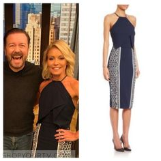 Kelly & Michael: April 2016 Kelly's Navy Graphic Halter Dress