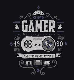 Gamer By David Cano #retrogaming #retrogamer #gamer #gaming #16bit #8bitevolution #oldschool #classic