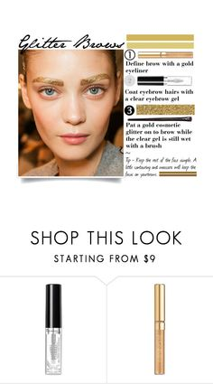 """""""Glitter Brows"""" by imahaterofallthings ❤ liked on Polyvore featuring beauty, Rimmel, Yves Saint Laurent, Bourjois and glitter"""