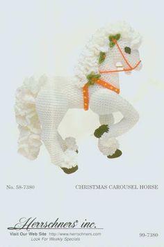 Herrschner's Christmas Carousel horse