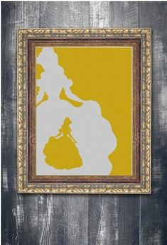 Belle in Belle art silhouette cross stitch pattern in pdf. Cross Stitch Pattern Maker, Cross Stitch Patterns, Pattern Making, Silhouette, Paper, Pdf, Frame, Fabric, Prints