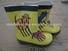 stock kids cartoon rubber rain boots