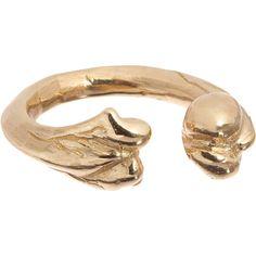 Jennifer Fisher Brass Bone Ring ($90) ❤ liked on Polyvore