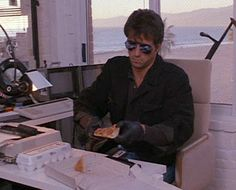 Sylvester Stallone Cobra Movie | Again, the scissors are key. Then you save the 5/6 of the pizza you ...
