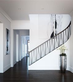 Discover The Mandarin Oriental Residences Atlanta& Maisonettes, a unique, luxurious option for Buckhead Highrise Condo living. Steel Railing Design, Staircase Railing Design, Home Stairs Design, Stair Design, Staircase Ideas, Railings, Atlanta Condo, Modern Stairs, Modern Wall
