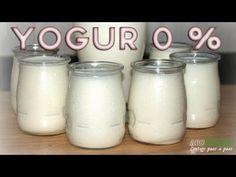 Fabrica tu propio yogur 0 % -Receta dieta Dukan Fase Ataque - YouTube Gelatina Light, Dukan Diet Attack Phase, Carrot Cookies, Cake Youtube, Protein Diets, Diet Tips, Glass Of Milk, Creme, Mason Jars