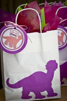 Favors at a Dinosaur Party #dinosaur #partyfavors