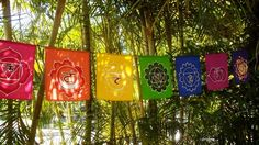 Technocolour Chakra Prayer Flag