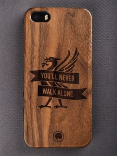 Buy You'll Never Walk ALone Engraved Wooden Smartphone Case Online for Bombay Trooper, Wooden Phone Case, You'll Never Walk Alone, Walking Alone, Laser Engraving, Smartphone, Iphone Cases, Accessories, Iphone Case