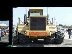 Earthquake Detroit Diesel 12 Cylinder 850 H P  Tractor and 15 Bottom Plow