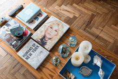 He recycled his childhood desk (originally made by his father) into this coffee table. The coffee table has a special room to showcase a book of Susana Gimenez (local talk show diva) of whom Lucas is a fan.