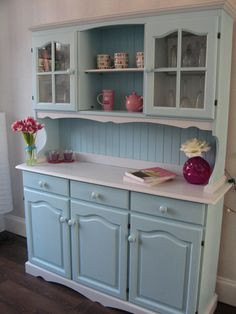 Beautiful Hand Painted Solid Wood Welsh Dresser by TotallyTahDah, £345.00