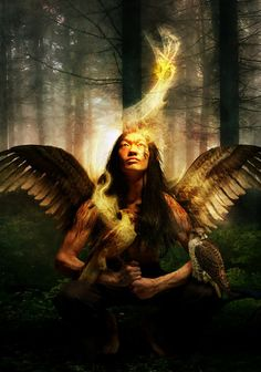 The Hawk Prince :: Digital Art by `AutumnsGoddess @ http://autumnsgoddess.deviantart.com/art/the-hawk-prince-105457355