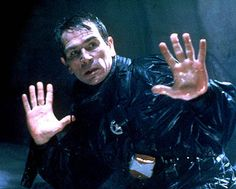 "Richard Kimble (Harrison Ford): [holding Gerard at gunpoint] ""I didn't kill my wife!"" // Deputy Marshal Samuel Gerard (Tommy Lee Jones): ""I don't care!"" -- from The Fugitive directed by Andrew Davis Tommy Lee Jones, Iconic Movies, Good Movies, Classic Movies, How To Be Single, Favorite Movie Quotes, 3d Christmas, No Way Out, Best Supporting Actor"