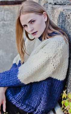 Two-Colored Knitted Wool Sweater | Canal Sweater by We Are Knitters, DIY Project Ideas