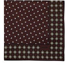 Mens Geometric-Print Silk Pocket Square Prada Z7i7Kbgjt