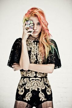 Coral Hair Chalk  Hair Chalking Pastels