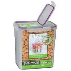 Snapware mAirtight Flip Medium Storage Container, 23-Cup by World Kitchen (PA). $24.50. Microwave, dishwasher and freezer safe. Durable airtight gasket seal. Modular stackable design. Easy open-and-close four-latch polypropylene lid. Snapware Airtight 23-cup Rectangular Food Storage Container wth Flip-top Lid Established in 1994, the majority of Snapware products are produced in the brand's birthplace of Mira Loma, California. Snapware specializes in storage and organization solu...