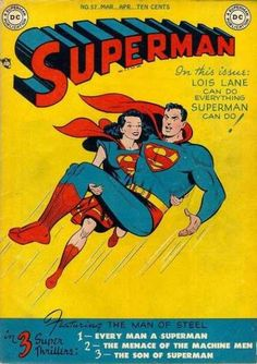 Dc - No57 - Mar-aphten Cents - 3 Super Thrillers - The Man Of Steel