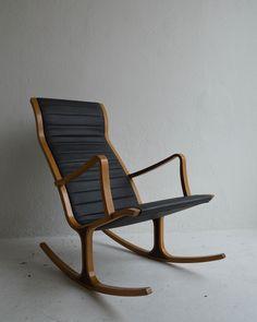 "Tendo Mokko Japan ""Heron"" Rocking Chair by Mitsumasa Sugasawa"