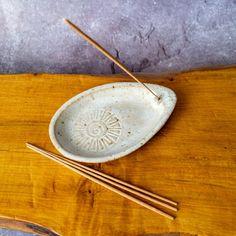 Ceramic Incense Stick Holder / Burner in Satin White Incense | Etsy Incense Holder, Incense Sticks, Different Textures, Ceramic Planters, Stoneware Clay, Safe Food, Ceramics, Ceramic Pots, Ceramica