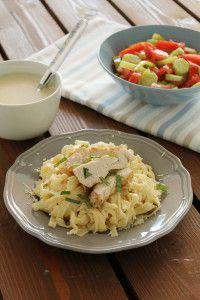 Κοτόπουλο ψητό και ταλιατέλες με ελαφριά λευκή σάλτσα - The one with all the tastes