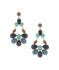 Look what I found on #zulily! Blue & Turquoise Faceted Chandelier Earrings #zulilyfinds