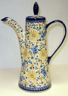 Dripping with Flowers Polish pottery opus tea pot