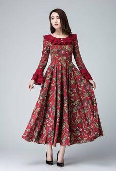 garden party dress Linen dress flower prom dress women by xiaolizi  #dress #flower #garden #linen #party #Prom #women #xiaolizi